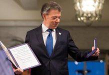 Juan Manuel Santos tras recibir el Premio Nobel de Paz / Foto: Reuters