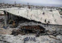 Destrucción e Kobane, Siria, después de ataques del Estado Islámico. / AFP