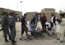 Afganos protestan por los últimos ataques aéreos en su país. / AFP