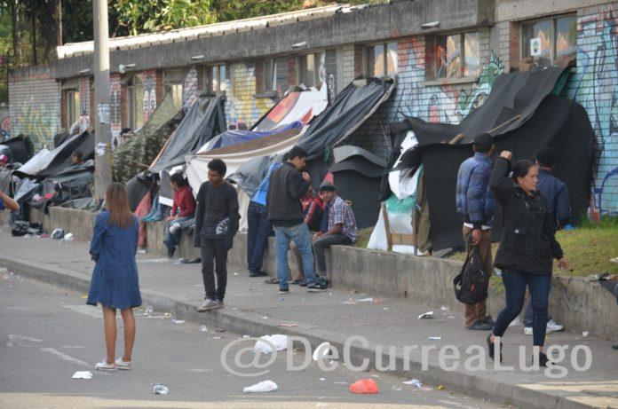 Migrantes venezolanos en Bogotá, 2018