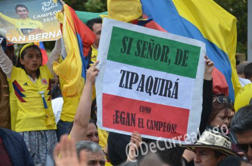 GALERÍA | Zipaquirá celebró triunfo de Egan Bernal 16