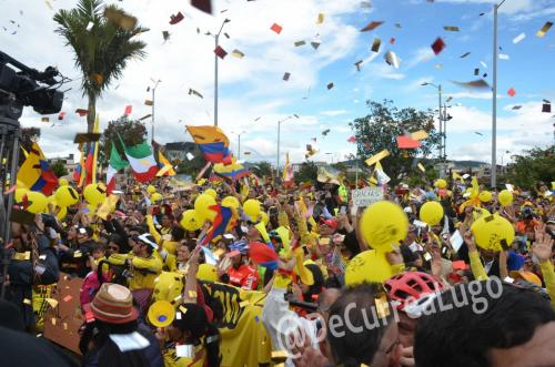 GALERÍA | Zipaquirá celebró triunfo de Egan Bernal 3